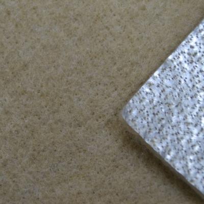 Нетканое полотно с ламинированной, металлизированной плёнкой бежевое